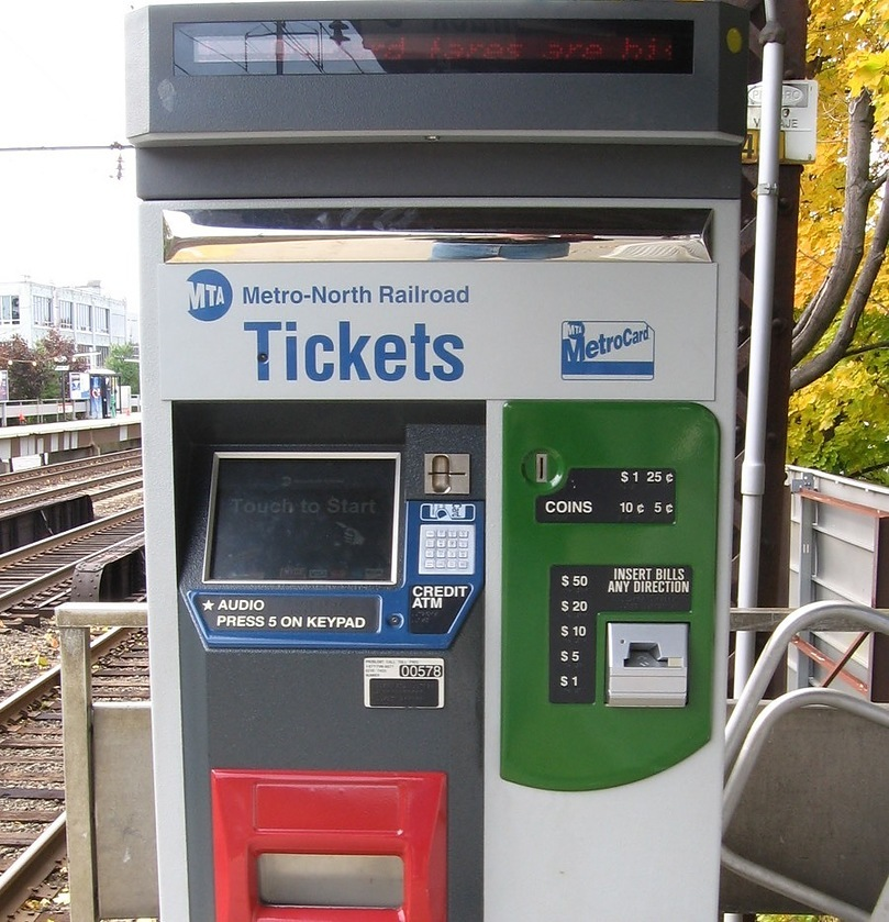 Metro North Ticket Station